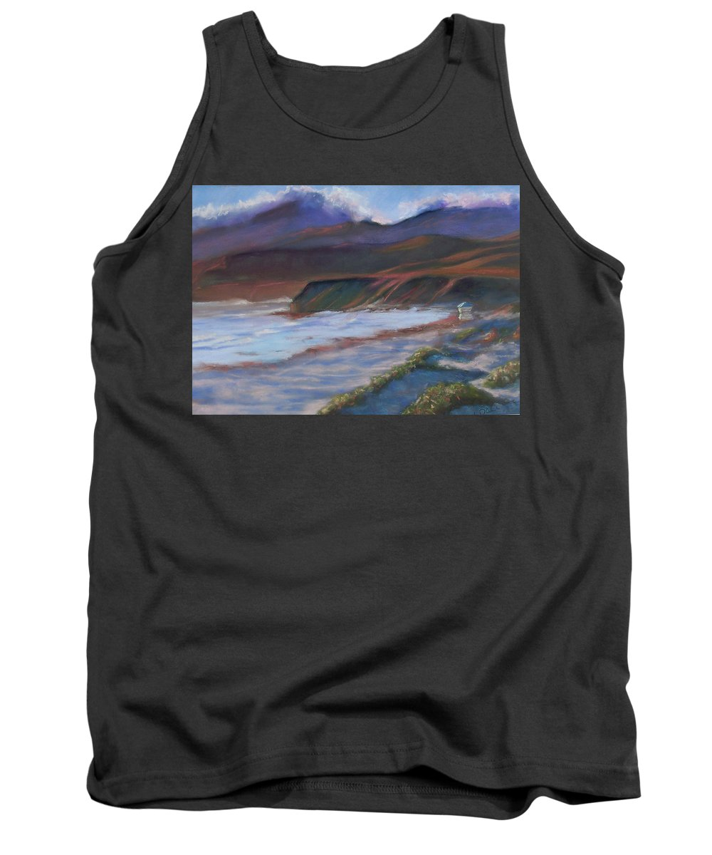 Jalama Beach. Tank Top featuring the pastel Jalama Beach At Sunset by Laurie Paci