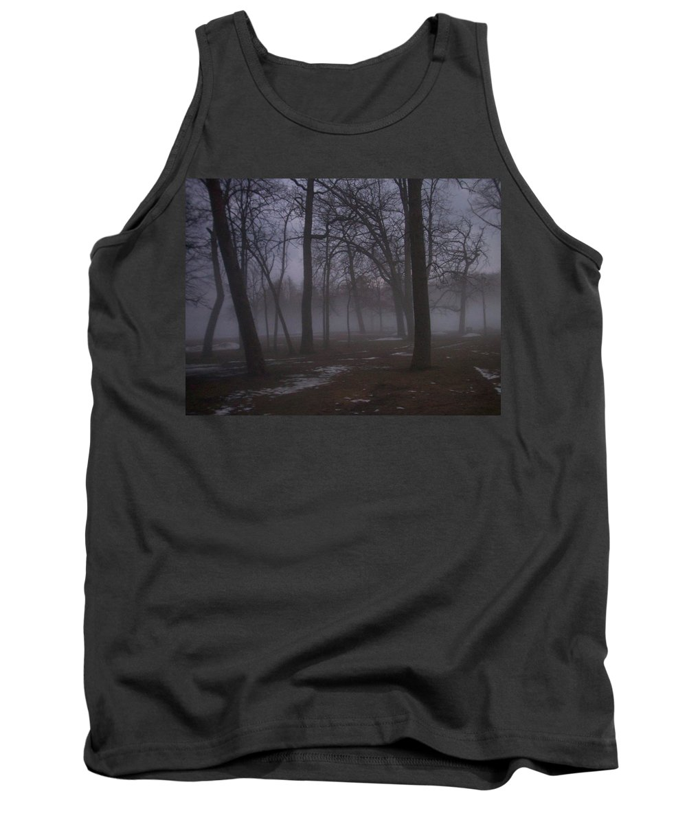 January Tank Top featuring the photograph January Fog 2 by Anita Burgermeister