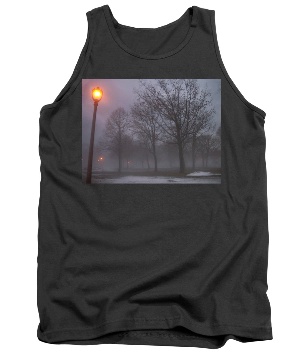 January Tank Top featuring the photograph January Fog 3 by Anita Burgermeister
