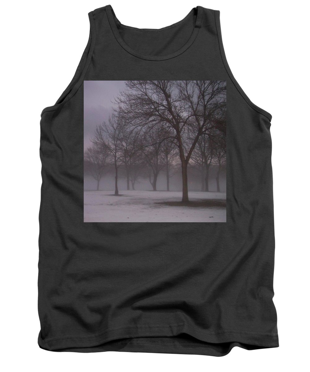 January Tank Top featuring the photograph January Fog 4 by Anita Burgermeister