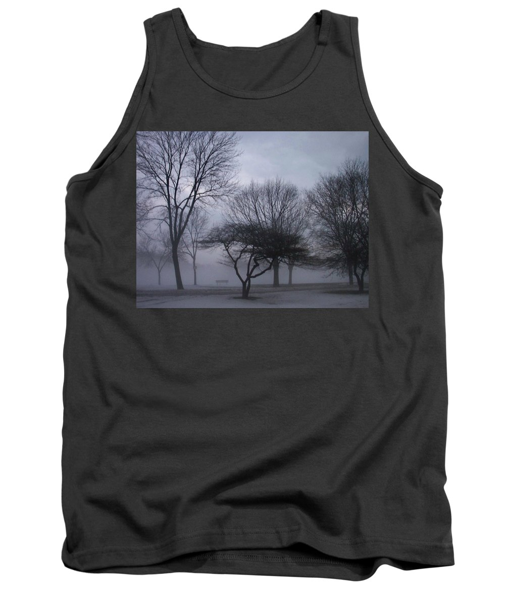 January Tank Top featuring the photograph January Fog 6 by Anita Burgermeister