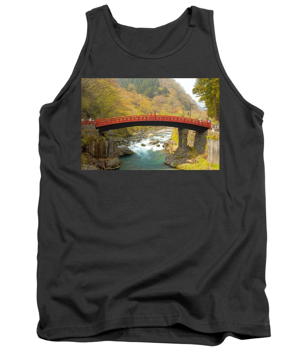 Japan Tank Top featuring the photograph Japanese Bridge by Sebastian Musial