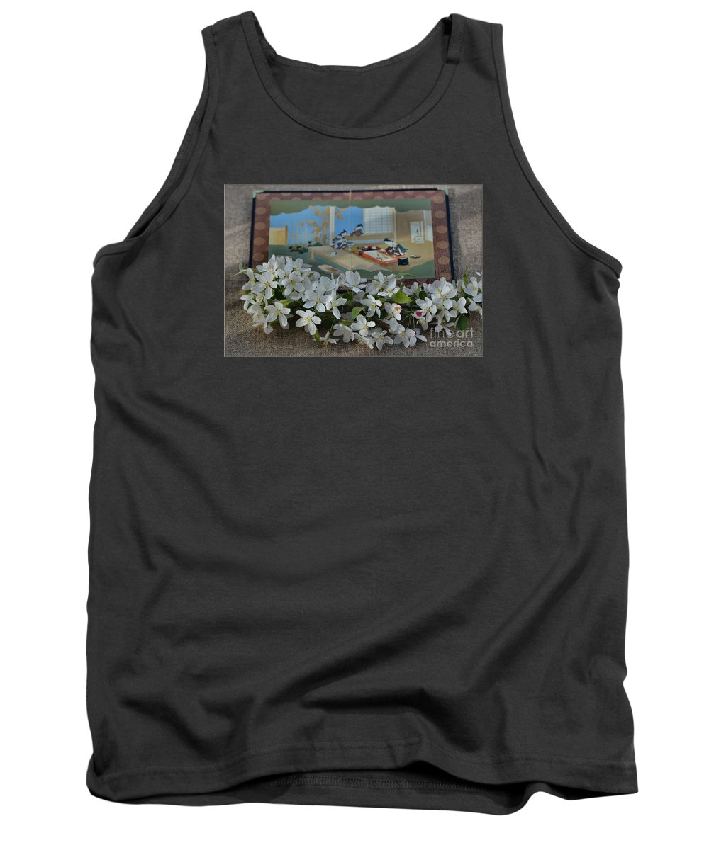 Cherry Blossoms Tank Top featuring the photograph Japanese Cherry Blossoms Branch by Luv Photography