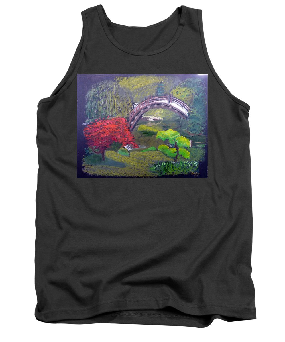 Japanese Garden Tank Top featuring the painting Japanese Garden by Richard Le Page