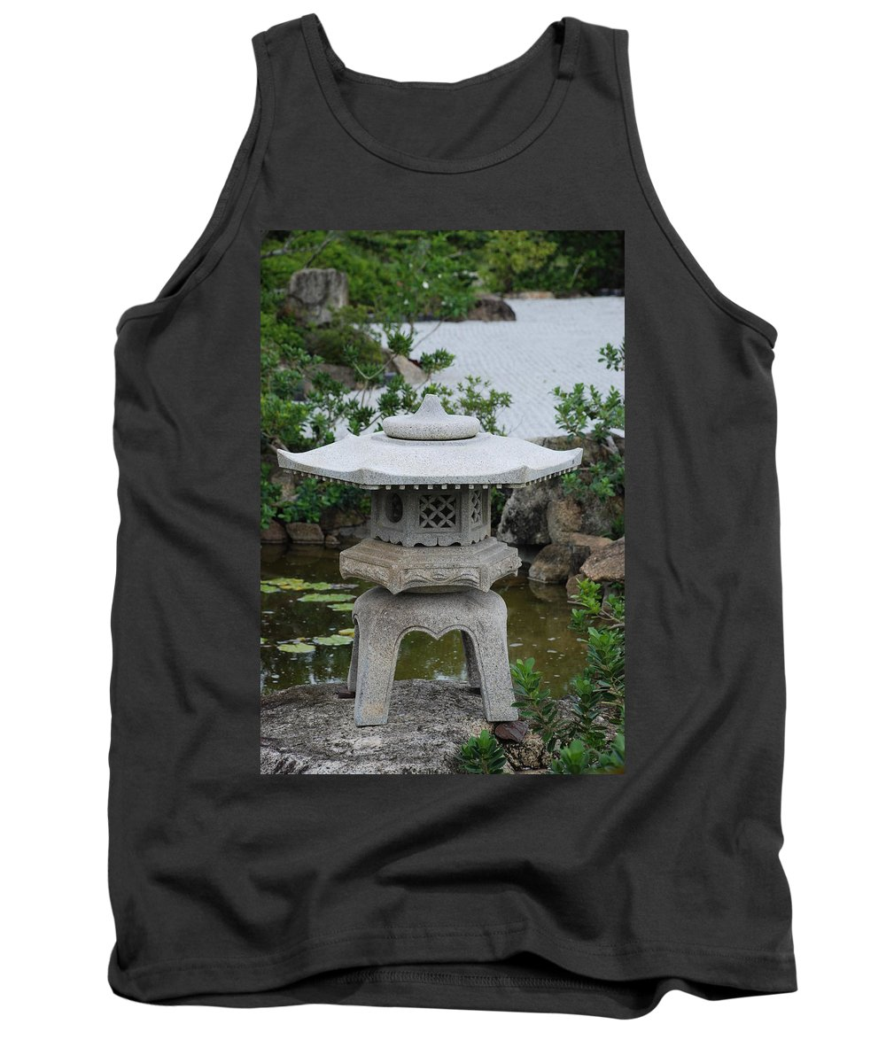 Rocks Tank Top featuring the photograph Japanese Lantern by Rob Hans