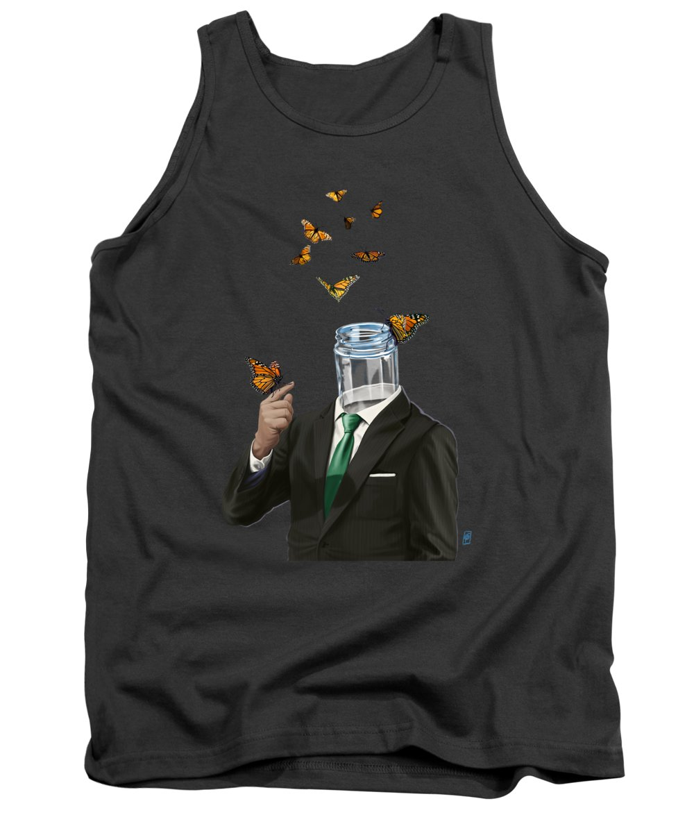 Butterfly Tank Top featuring the digital art Jar by Rob Snow
