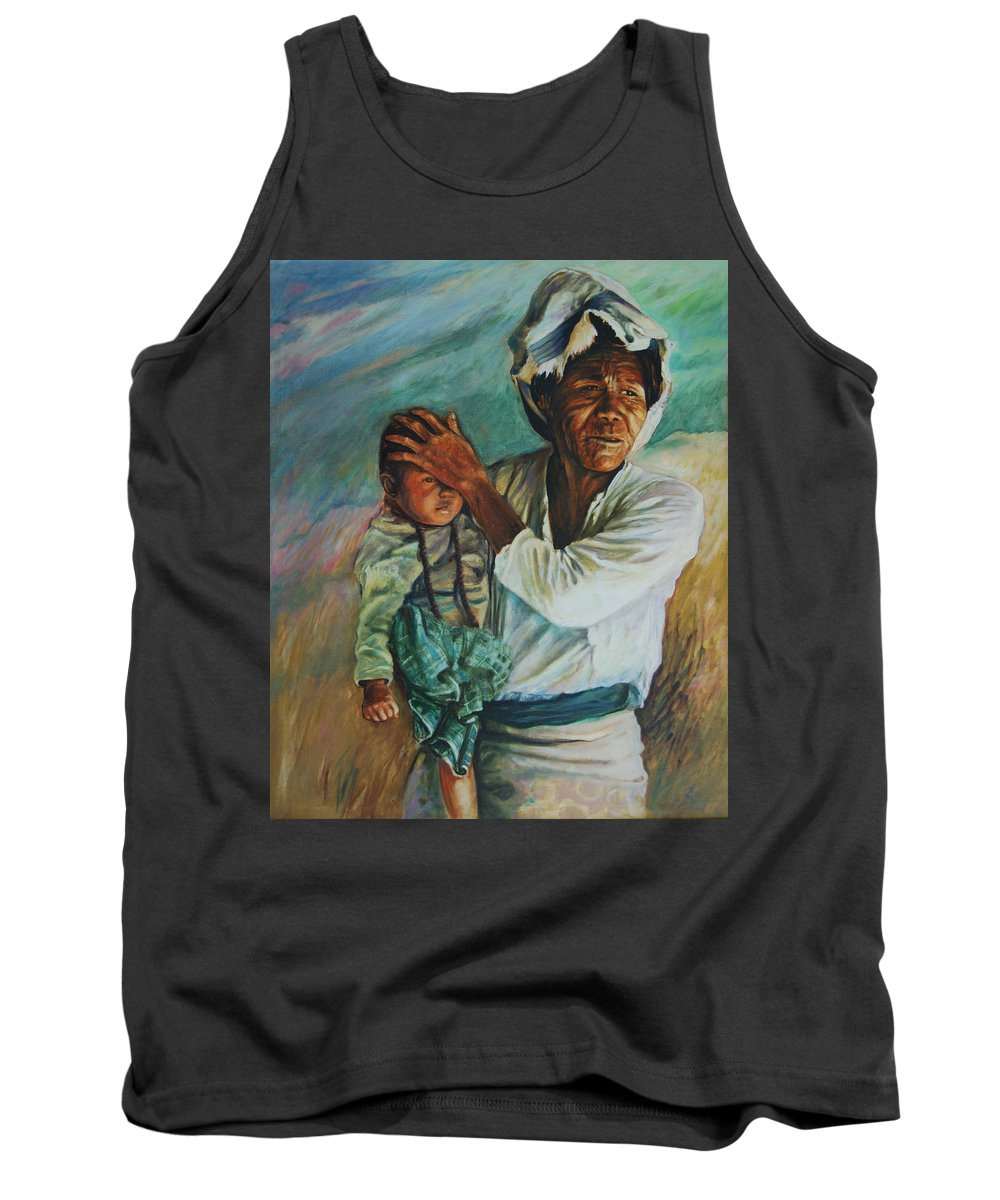 Woman Tank Top featuring the painting Javanese Woman by Rick Nederlof