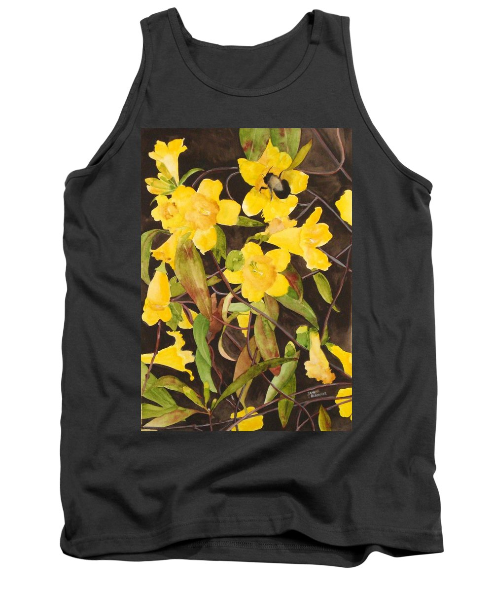 Flowers Tank Top featuring the painting Jessamine Jungle by Jean Blackmer