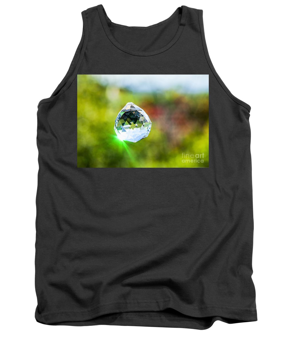 Freshness Tank Top featuring the photograph Jewel Hanging Outdoors by Eyal Fischer