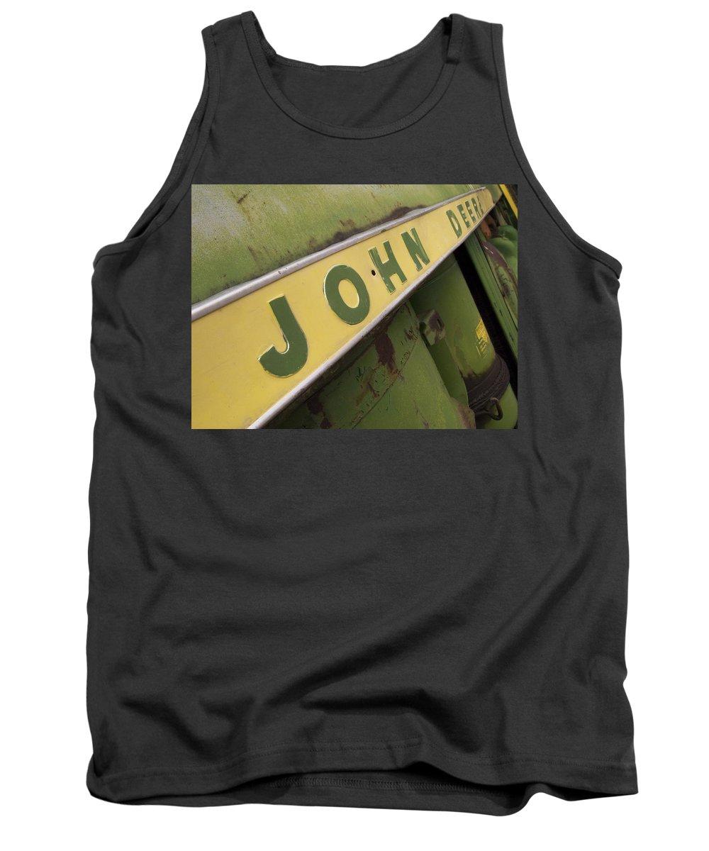 John Deere Tank Top featuring the photograph John Deere by Jeffery Ball