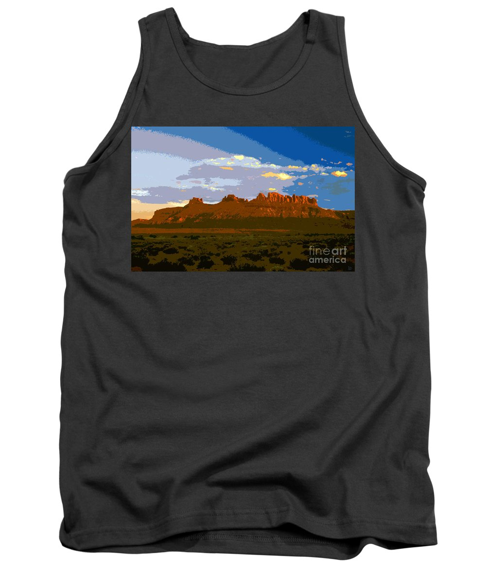 Landscape Tank Top featuring the painting John Wayne Country by David Lee Thompson