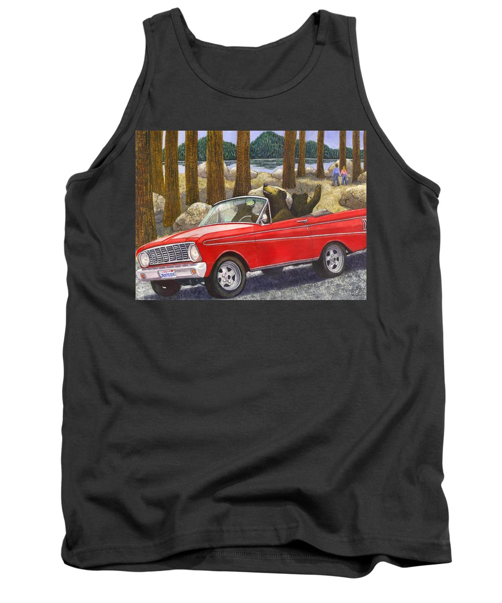 Bears Tank Top featuring the painting Joy Ride by Catherine G McElroy
