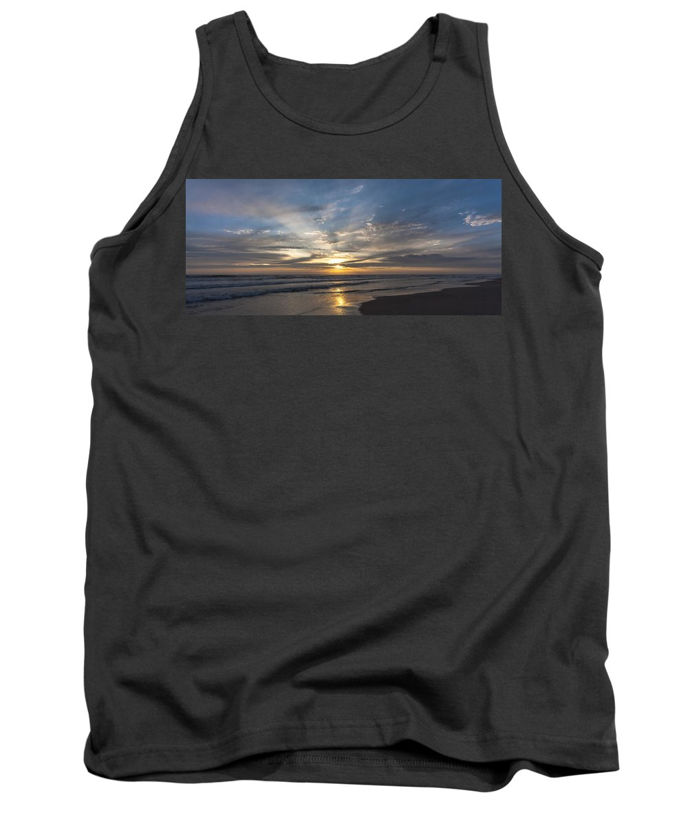 Sea Tank Top featuring the photograph July 2015 Sunset Part 3 by Alex Hiemstra