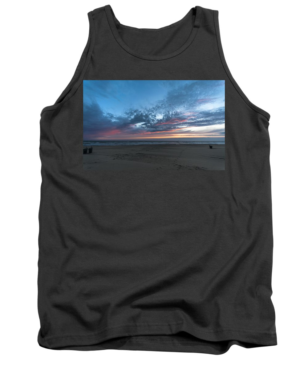 Sea Tank Top featuring the photograph July 2015 Sunset Part 4 by Alex Hiemstra