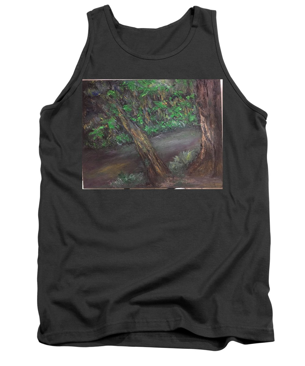 Jungle Tank Top featuring the painting Jungle Rules by Yong Chee lik