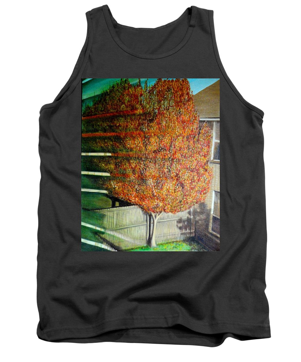 Fall Tank Top featuring the painting Just Before Fall by Usha Shantharam