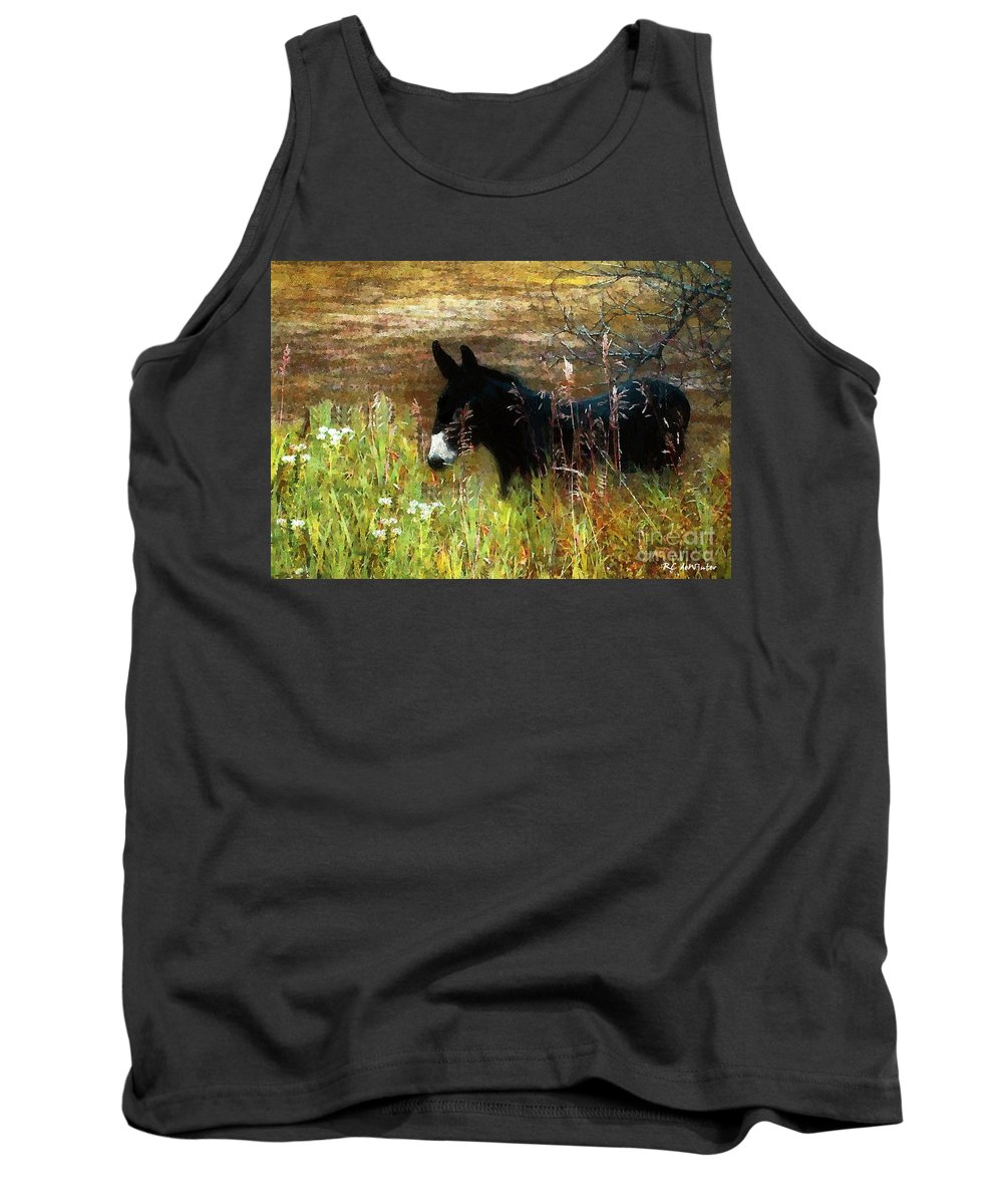 Burro Tank Top featuring the painting Just Chillin' by RC DeWinter