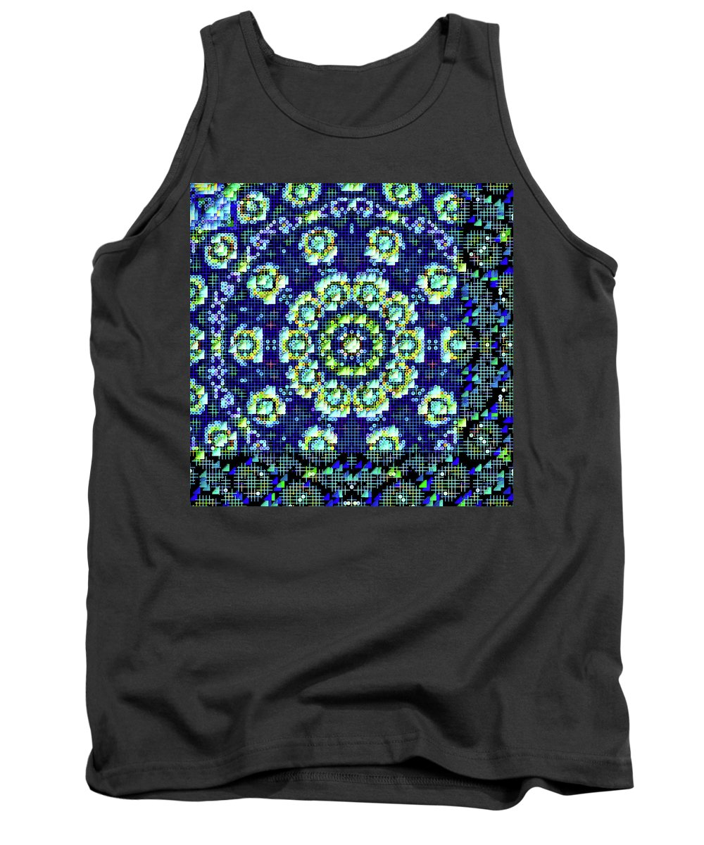 Mandala Art Tank Top featuring the painting Justice by Jeelan Clark