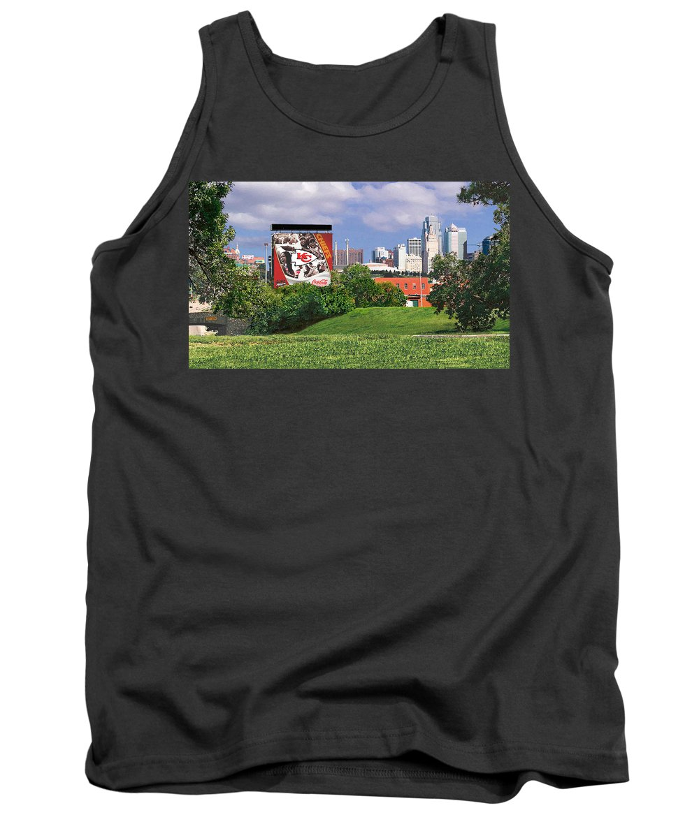 Landscape Tank Top featuring the photograph Kansas City Sky Line by Steve Karol