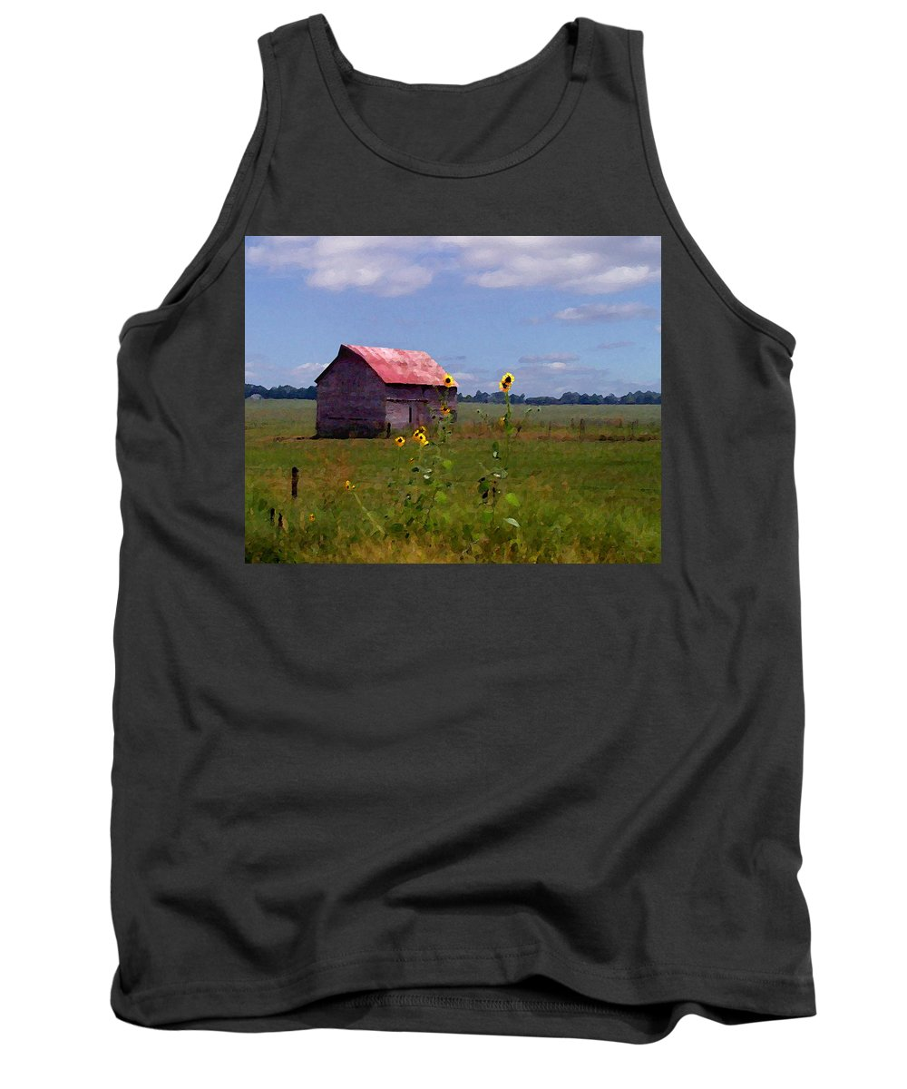 Lanscape Tank Top featuring the photograph Kansas Landscape by Steve Karol