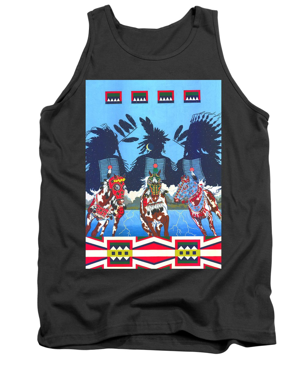 America Tank Top featuring the painting Keepers Of The Law by Chholing Taha
