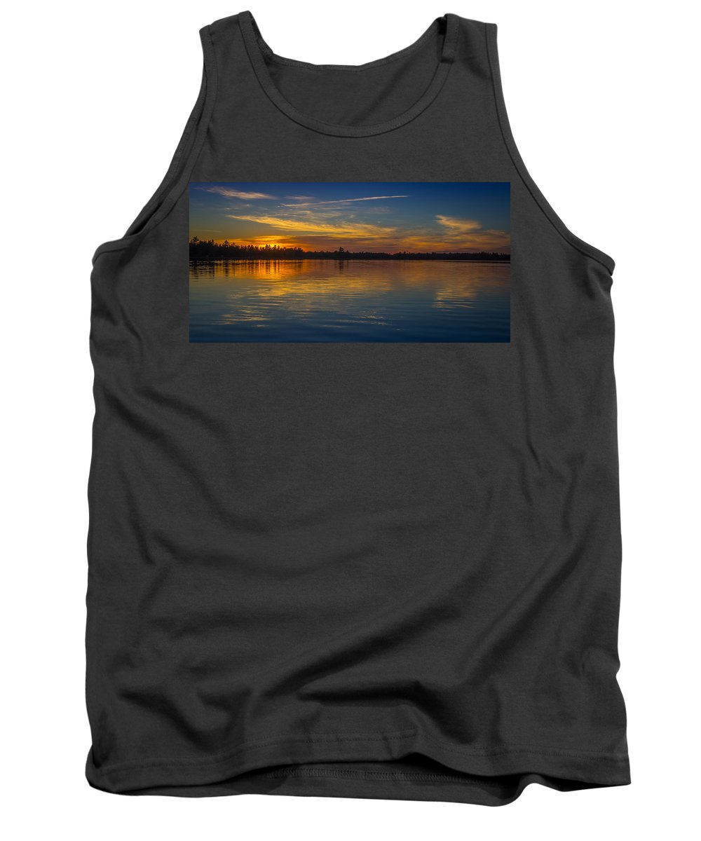 Canada Tank Top featuring the photograph Kejimkujik Sunset by Mark Llewellyn