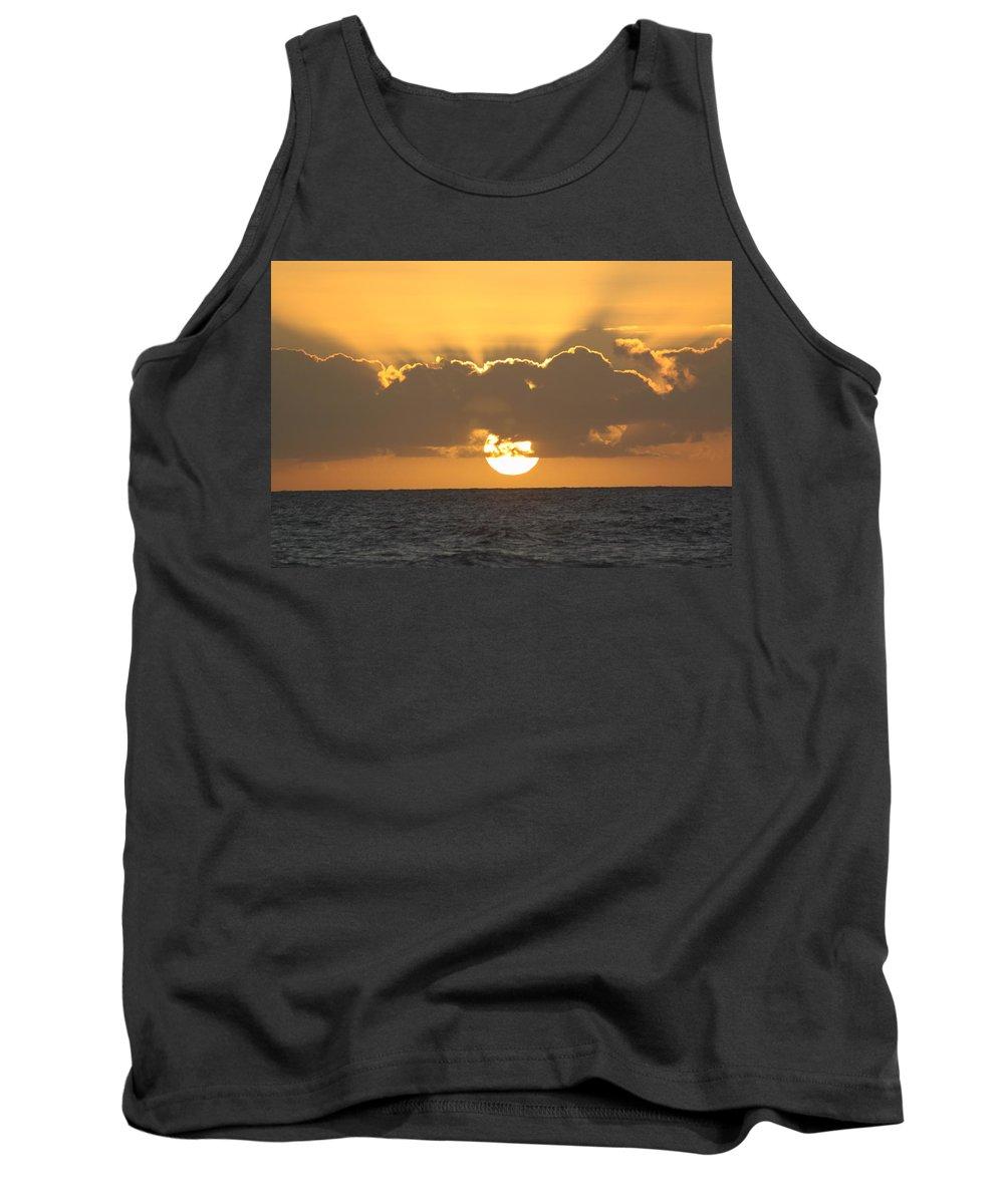 Sunset Tank Top featuring the photograph Kekaha Sunset by Lauri Novak