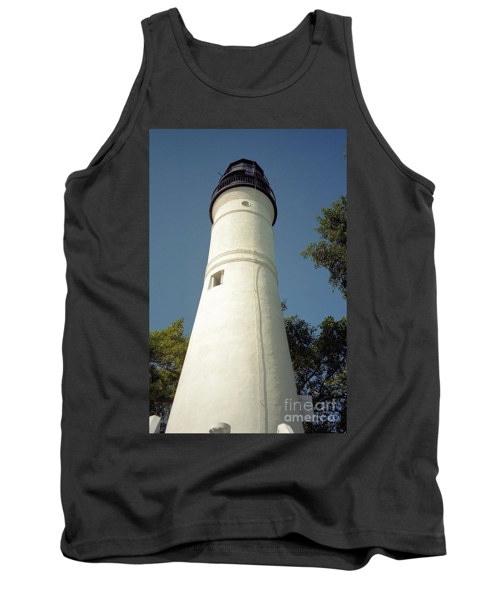 Lighthouses Tank Top featuring the photograph Key West Lighthouse by Richard Rizzo