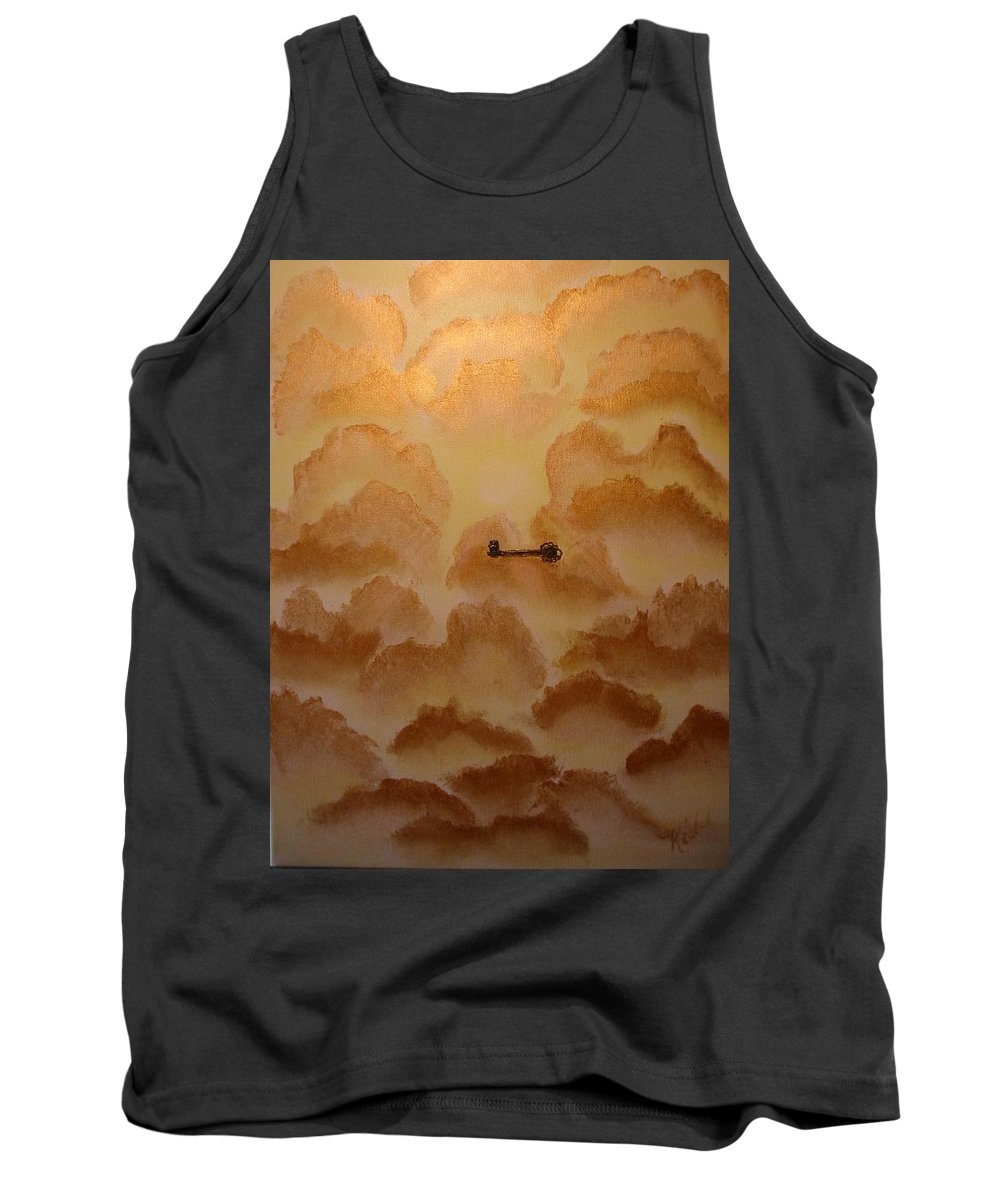 Gold Tank Top featuring the painting Keys To The Kingdom by Laurie Kidd