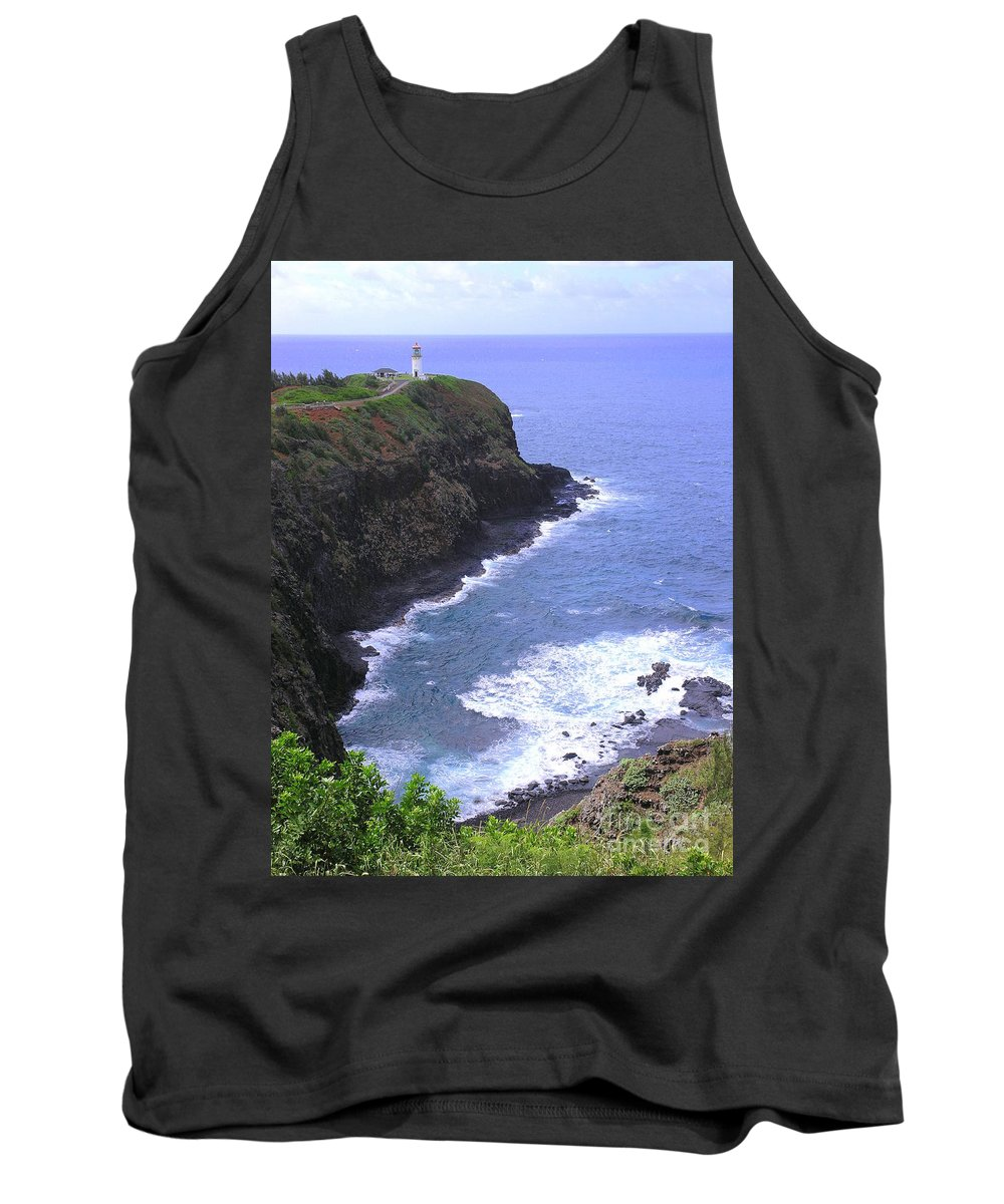 Lighthouse Tank Top featuring the photograph Kilauea Lighthouse And Bird Sanctuary by Mary Deal
