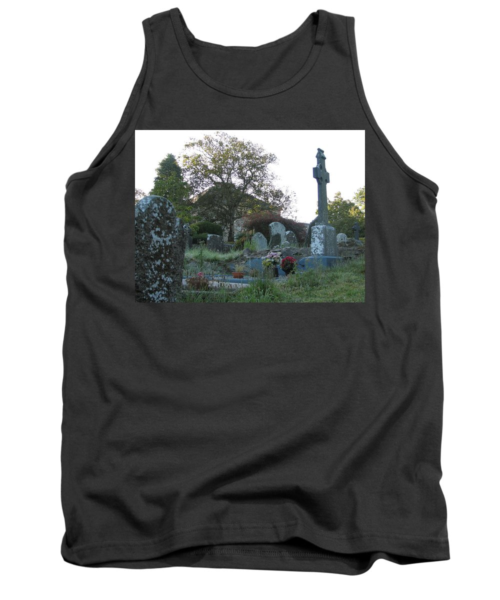 Graveyard Tank Top featuring the photograph Kilmokea Graveyard by Kelly Mezzapelle