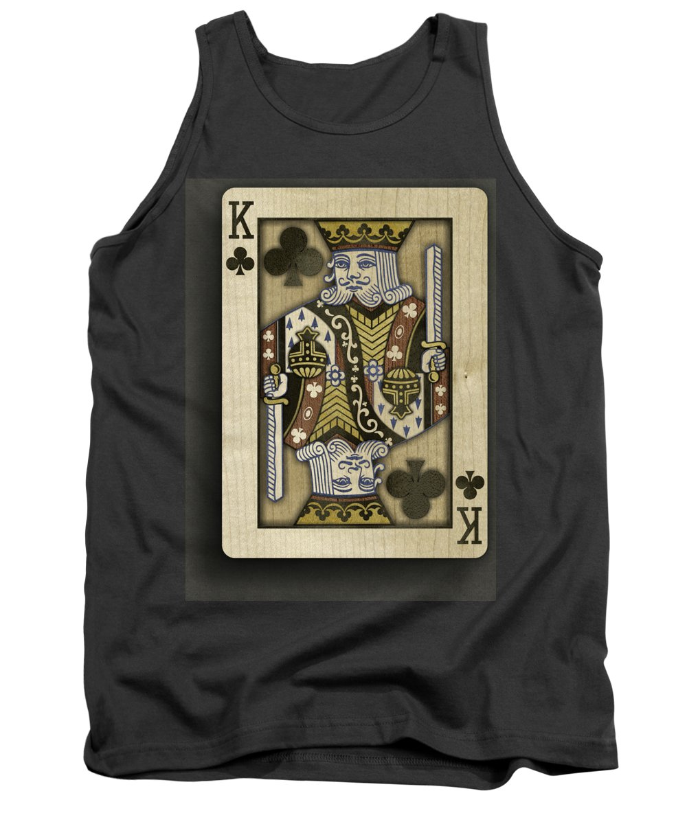 Game Tank Top featuring the photograph King of Clubs in Wood by YoPedro