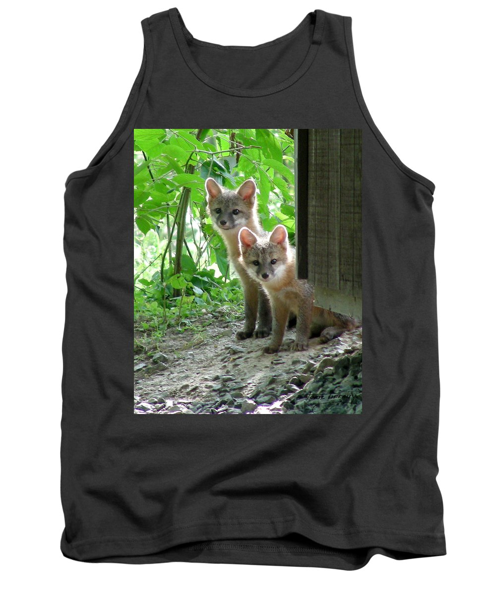 Kit Fox Tank Top featuring the photograph Kit Fox16 by Torie Tiffany