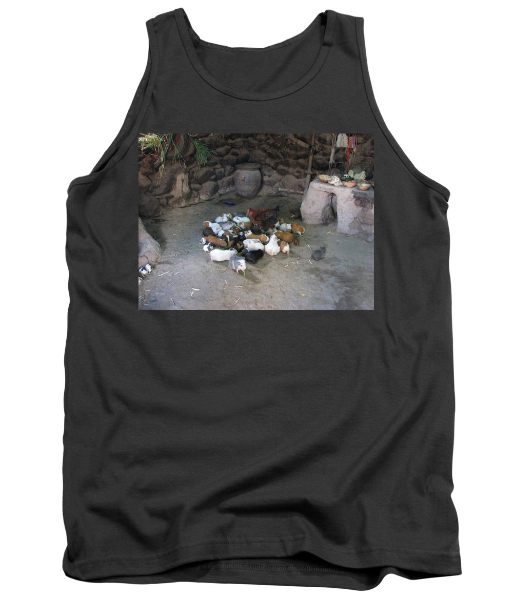 Animals Tank Top featuring the photograph Kitchen Livestock 2 by Sandra Bourret