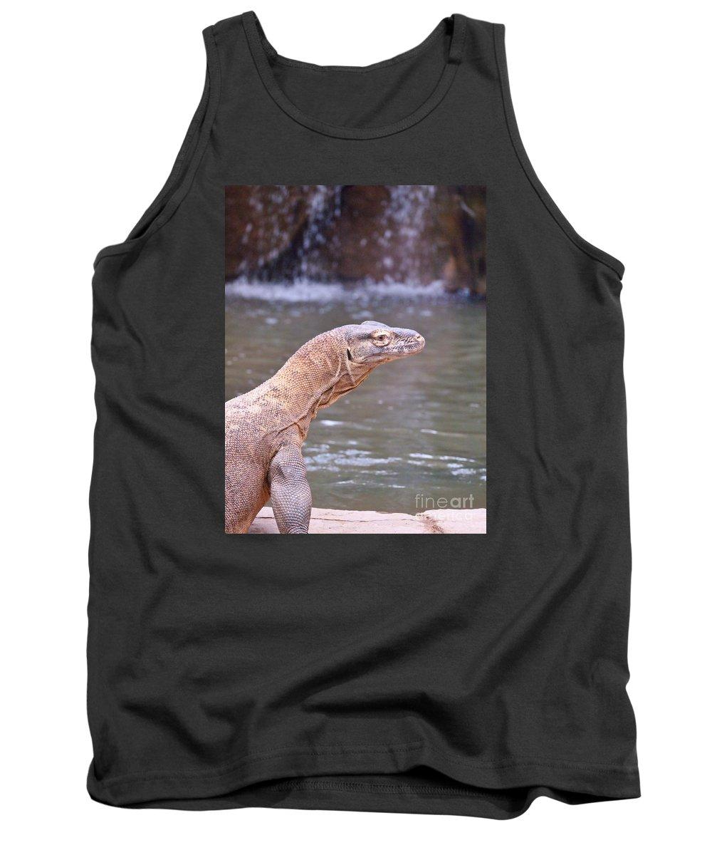 Lizard Tank Top featuring the photograph Komodo Dragon by Jennifer Craft