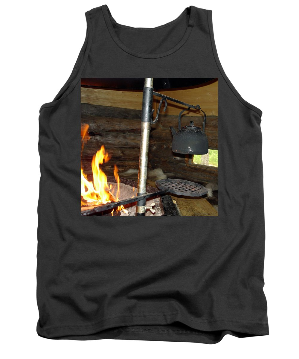Kota Tank Top featuring the photograph Kota Kitchen In Lapland by Merja Waters