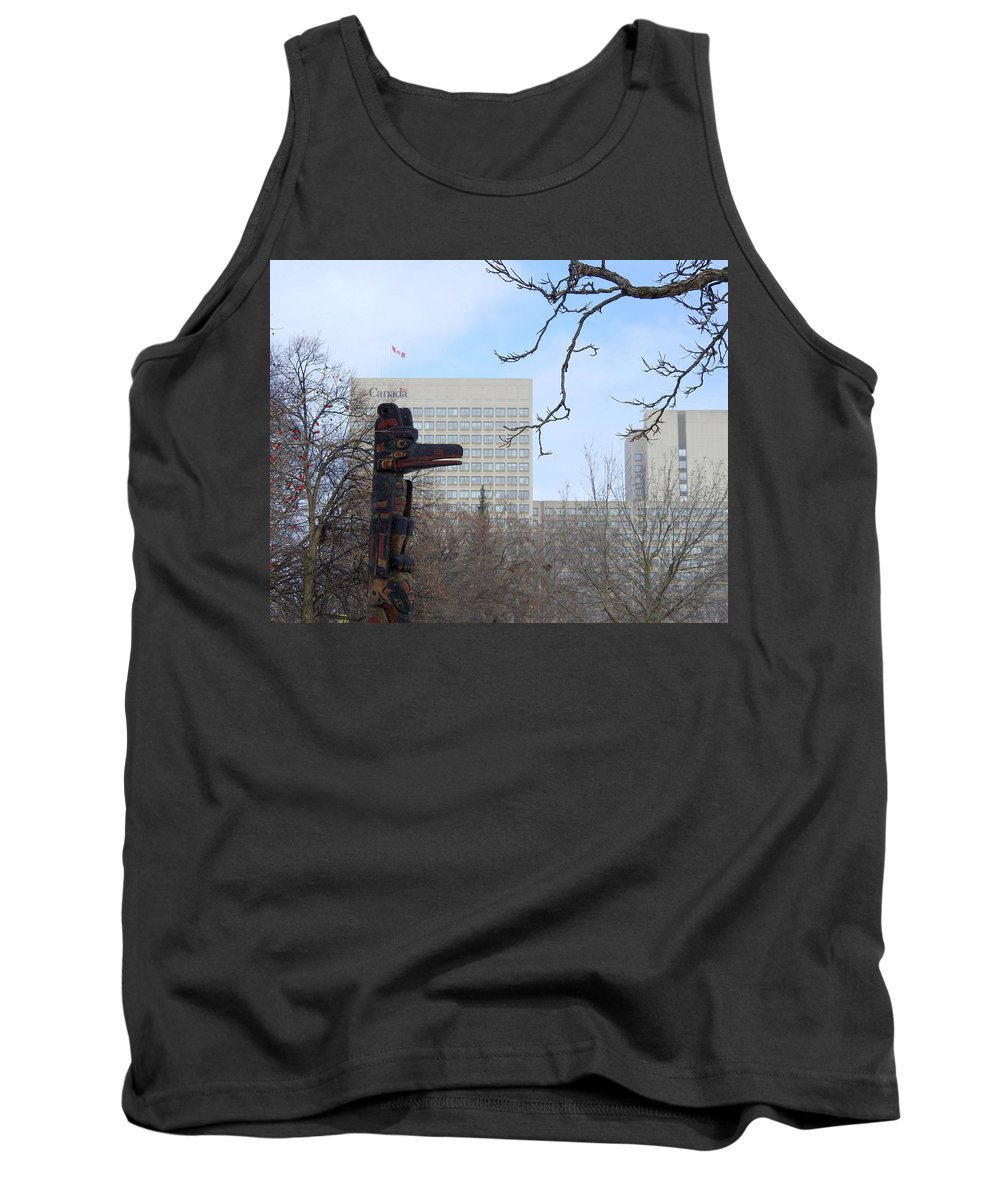 Totem Pole Tank Top featuring the photograph Kwakiuti Totem by Betty-Anne McDonald