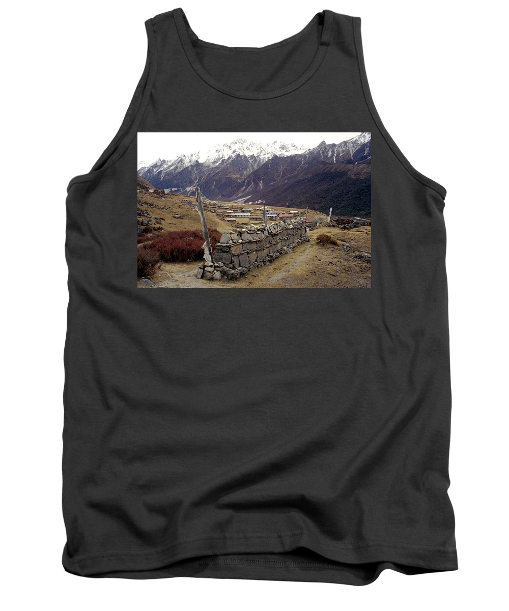 Langtang Tank Top featuring the photograph Kyanjin Gompa by Patrick Klauss