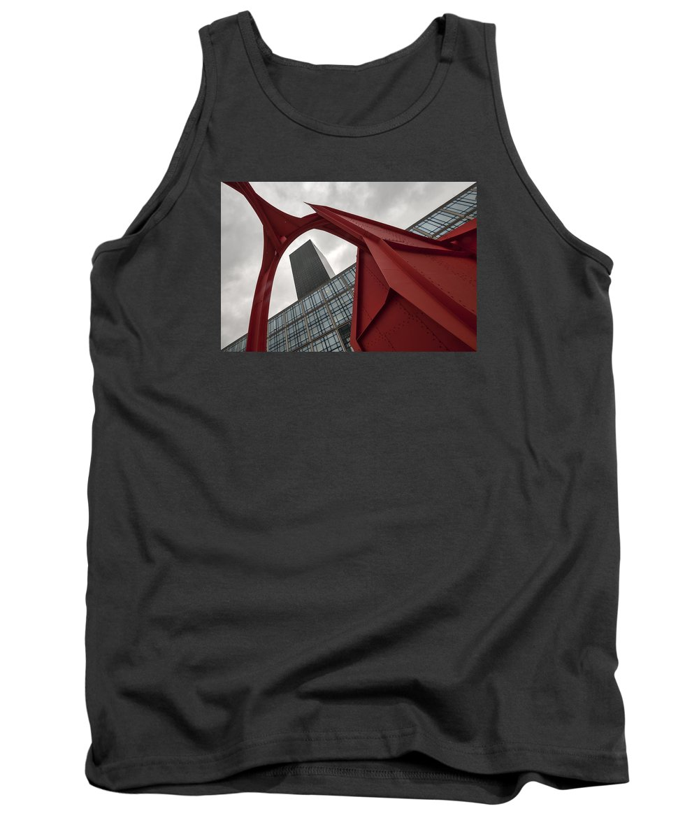 France Tank Top featuring the photograph La Defense by Ayhan Altun