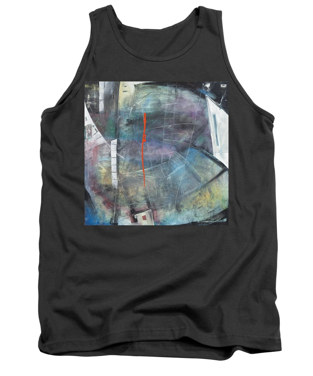 Abstract Tank Top featuring the painting La Mort Au Cirque by Tim Nyberg