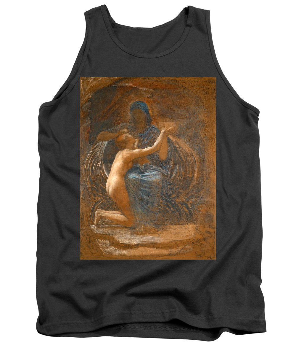 William Blake Richmond Tank Top featuring the drawing La Vierge Consolatrice by William Blake Richmond