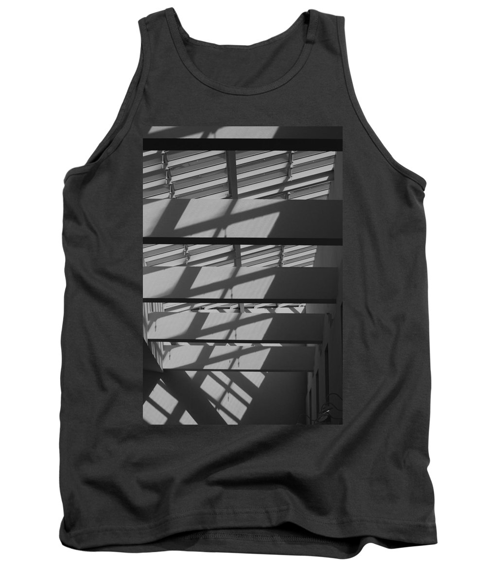 Black And White Tank Top featuring the photograph Ladders In The Sky by Rob Hans