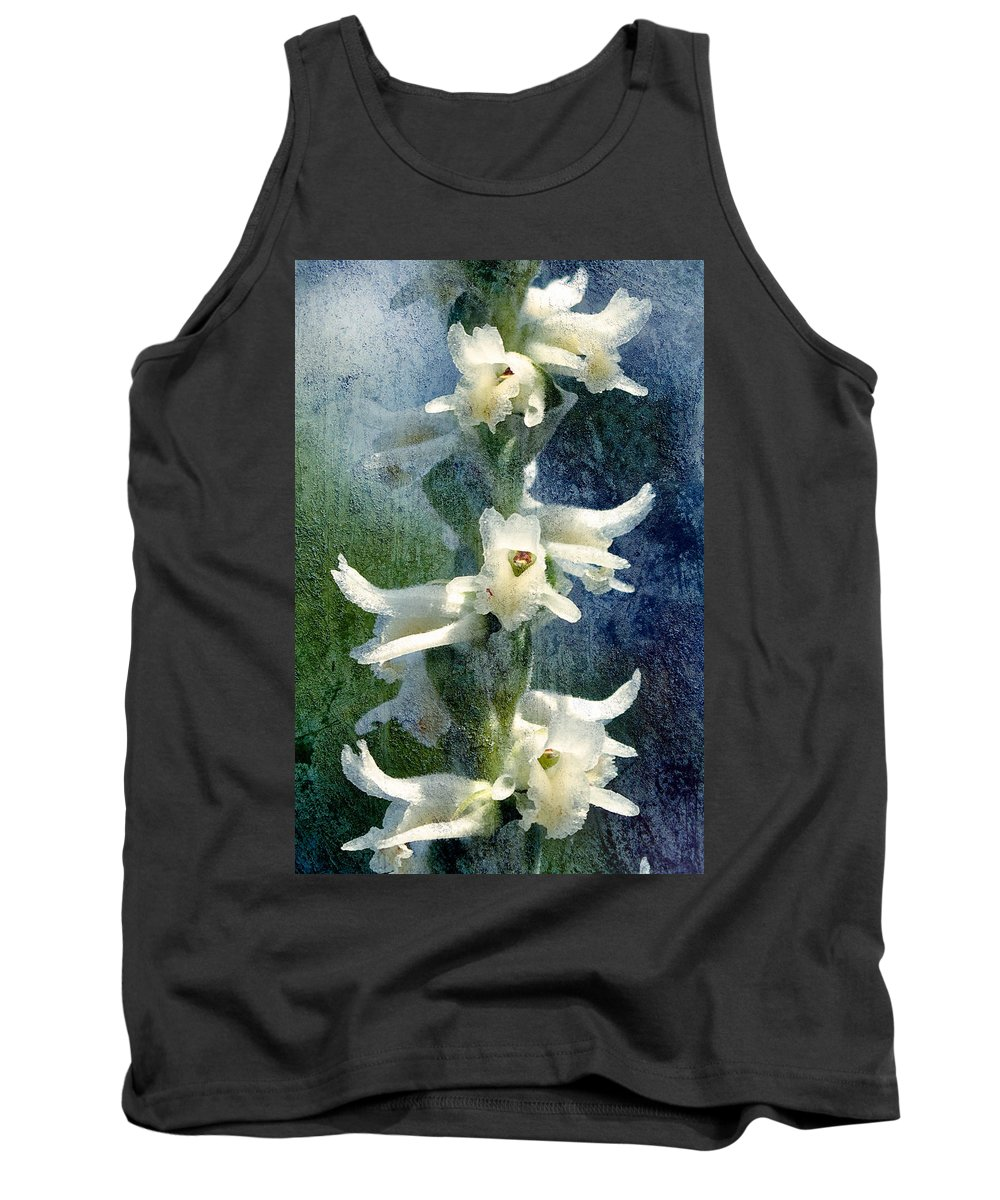 Orchid Tank Top featuring the photograph Ladies-tresses Orchid by Rich Leighton