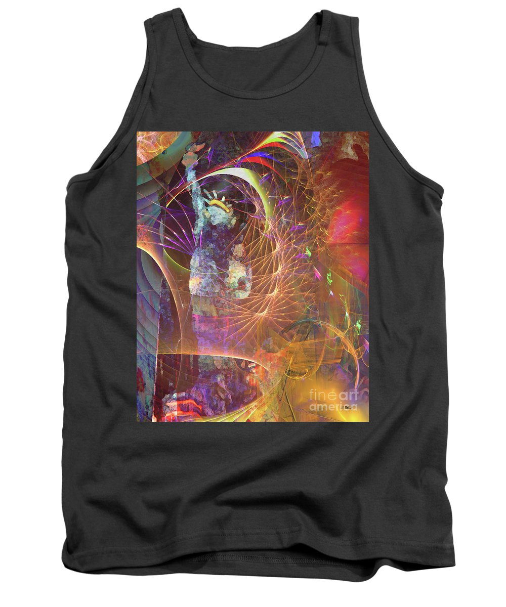 Lady Liberty Tank Top featuring the digital art Lady Liberty by John Beck