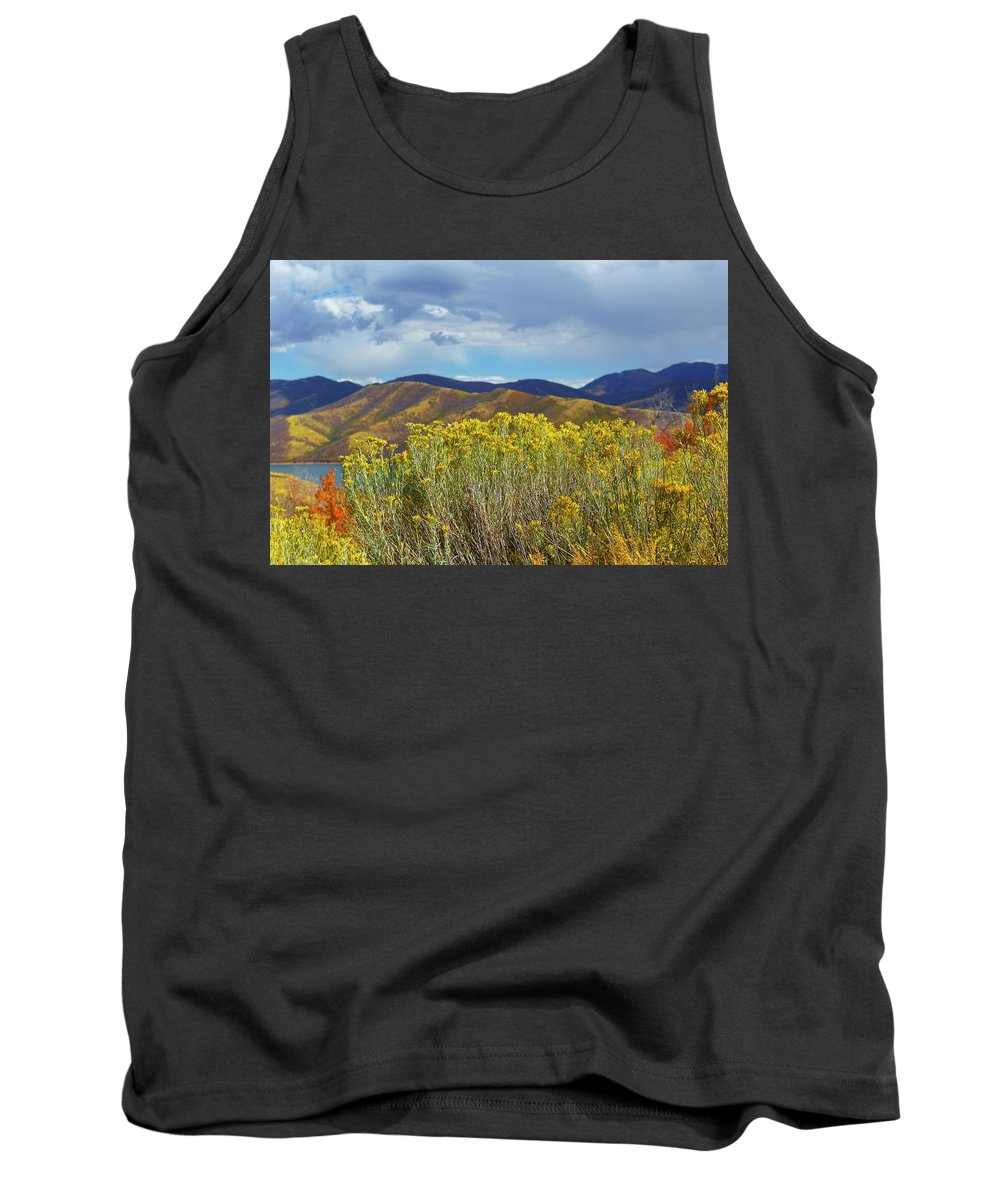 Autumn Tank Top featuring the photograph Lake At Emigration Canyon by Todd Mitchell