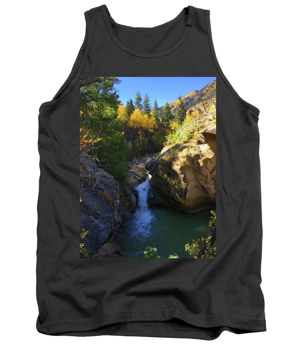 Colorado Tank Top featuring the photograph Lake Creek Falls by Carol Milisen