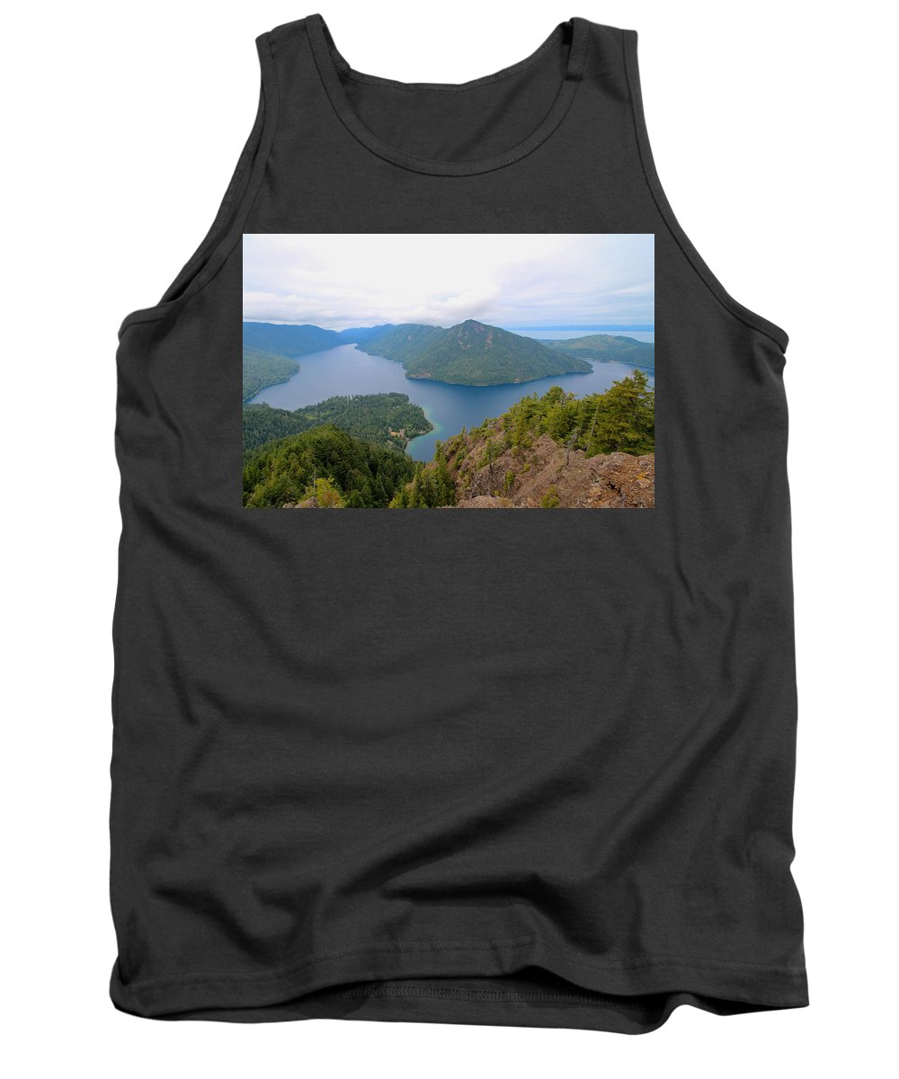 Travel Tank Top featuring the photograph Lake Crescent by Nicholas Miller