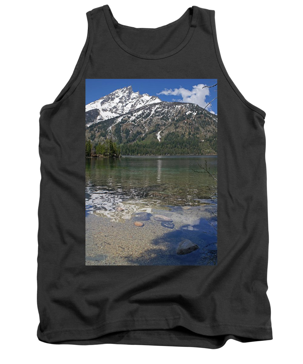 Grand Tetons Tank Top featuring the photograph Lake Jenny Grand Tetons by Heather Coen