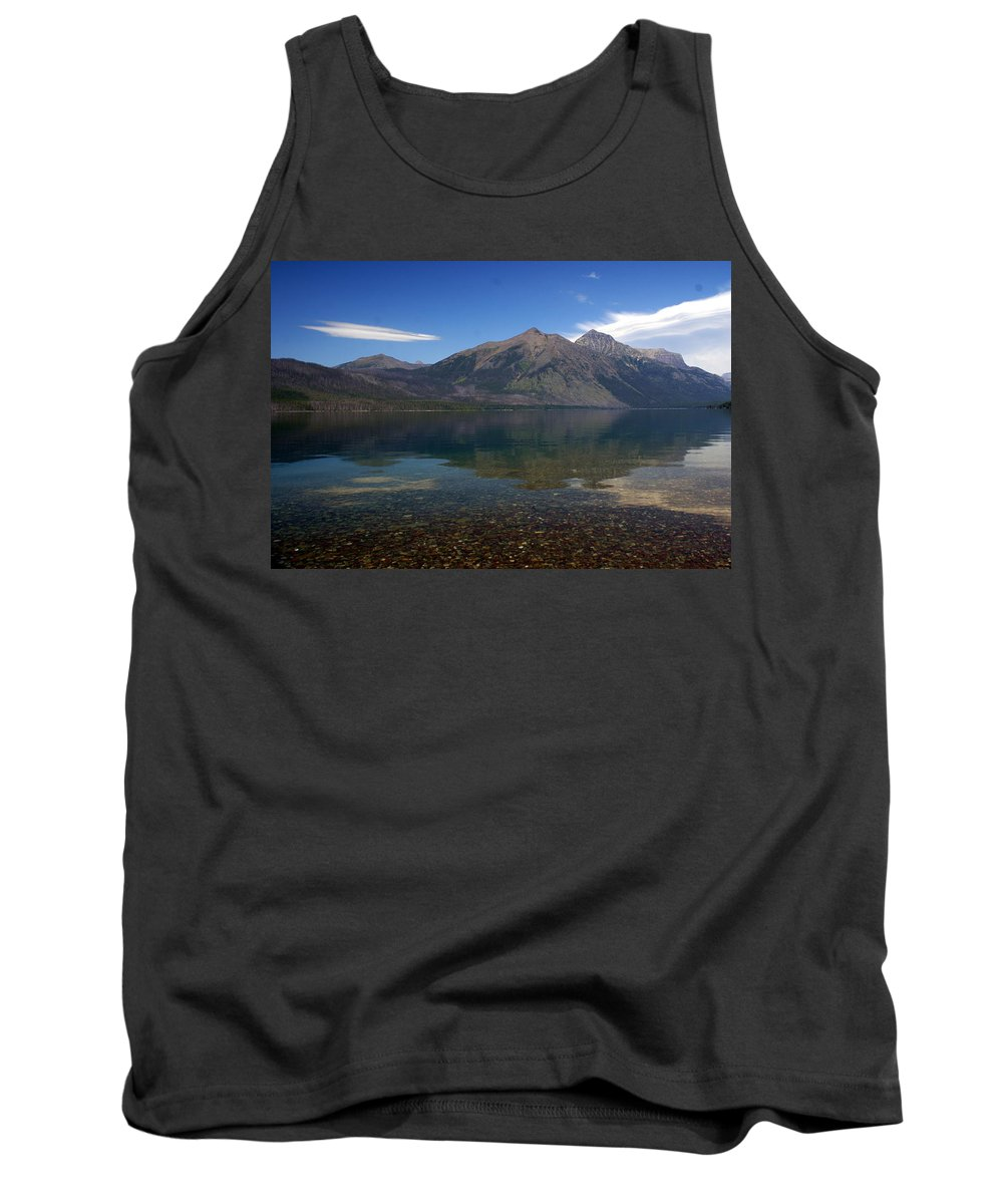 Landscape Tank Top featuring the photograph Lake Mcdonald Reflection Glacier National Park 2 by Marty Koch