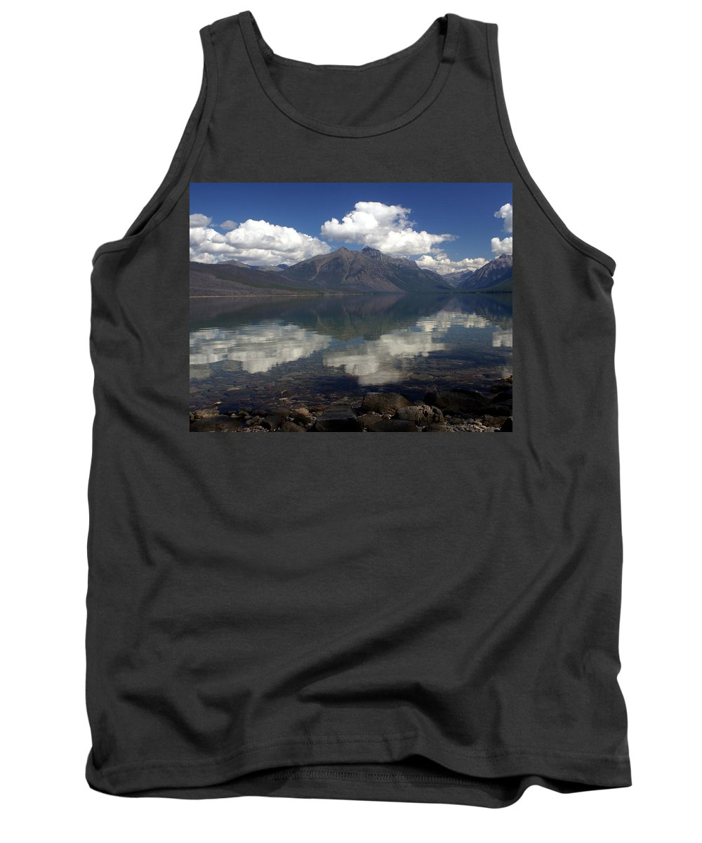 Glacier National Park Tank Top featuring the photograph Lake Mcdonald Reflection Glacier National Park by Marty Koch